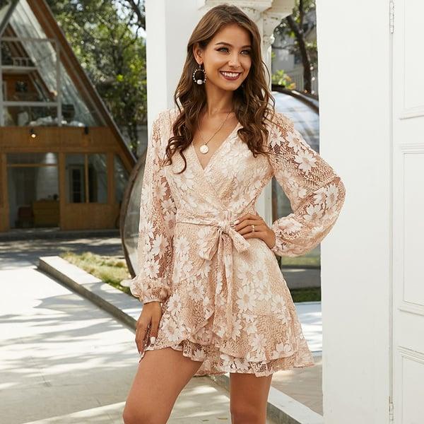 pale pink lace 1Sansome dress