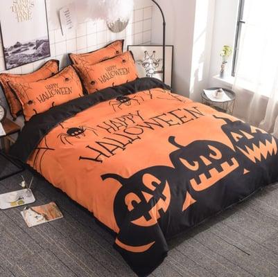 Pumpkin-bedspread