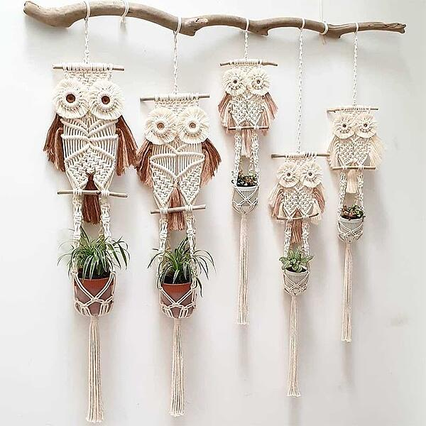 macrame-owl-planters