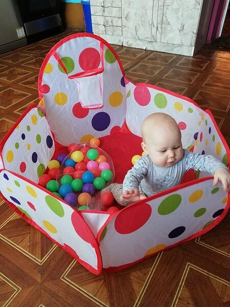 Ball Play pen with baby