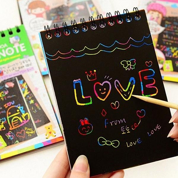 Rainbow scratch sketch pad