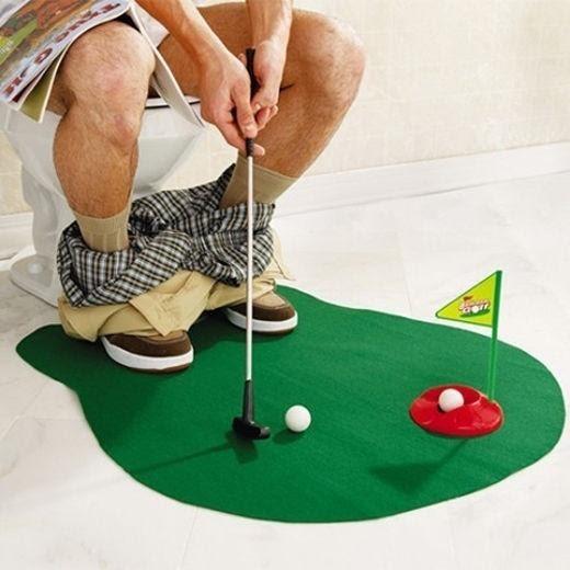 toilet, Bathroom, Toy, Golf