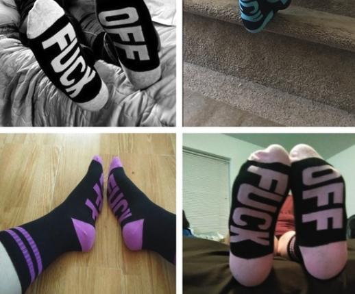 F Off socks