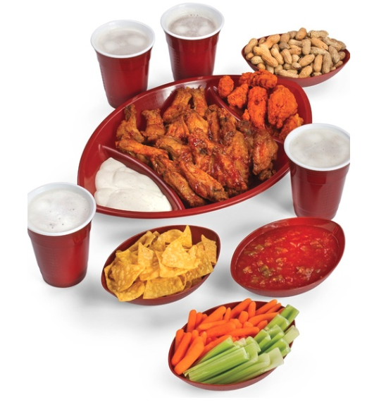 football trays, game day