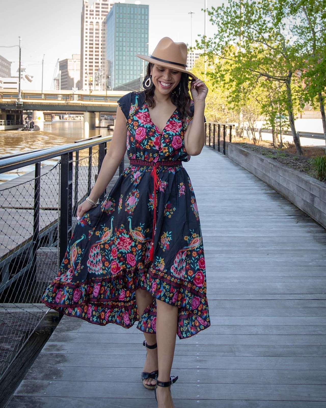 dress, floral
