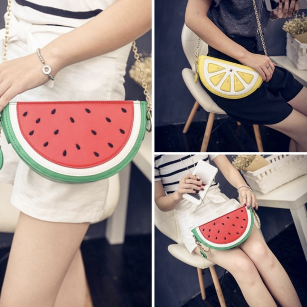 purse, watermelon