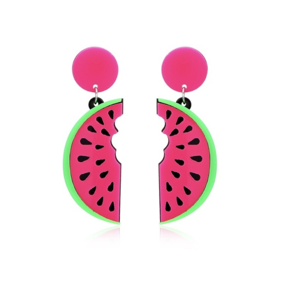 watermelon, earrings