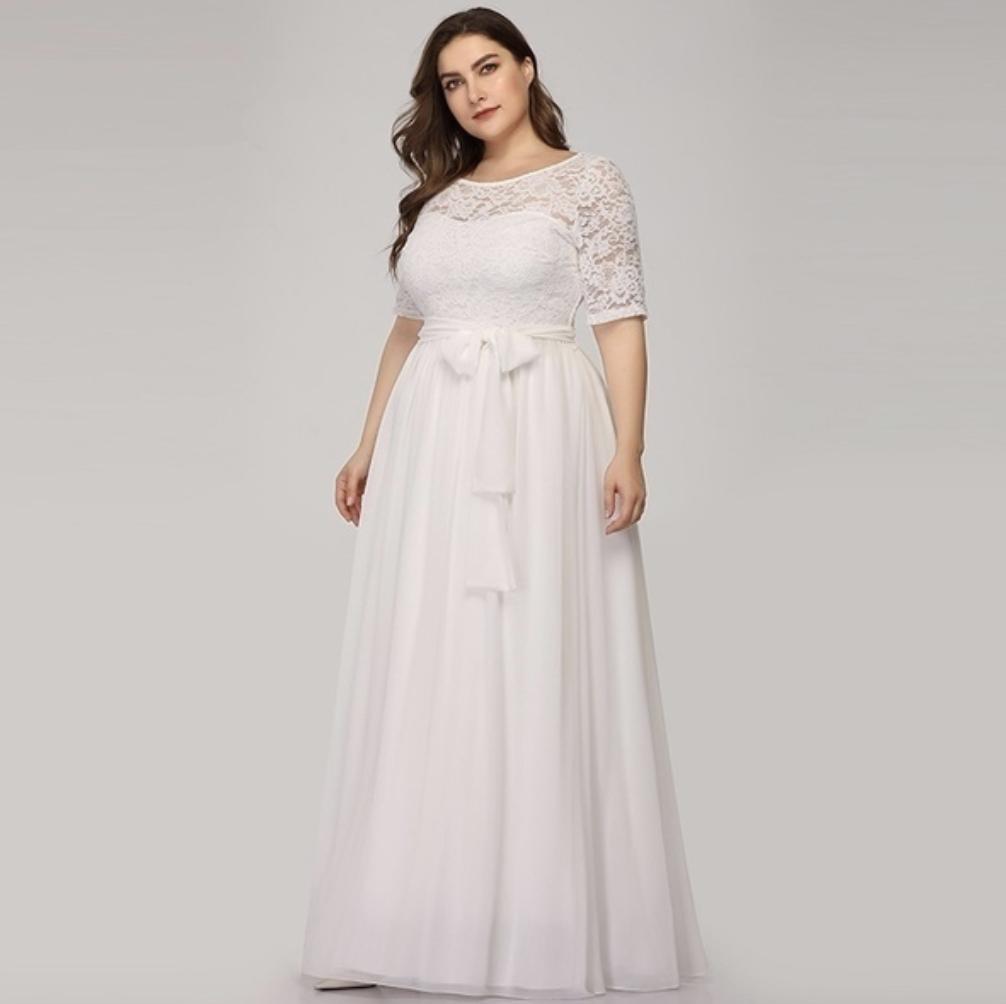 wedding, dress, plus size