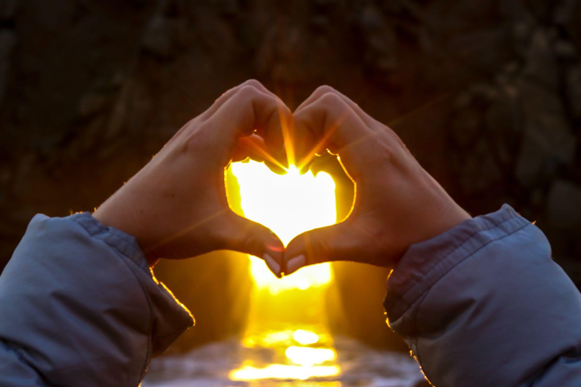 wish hand heart