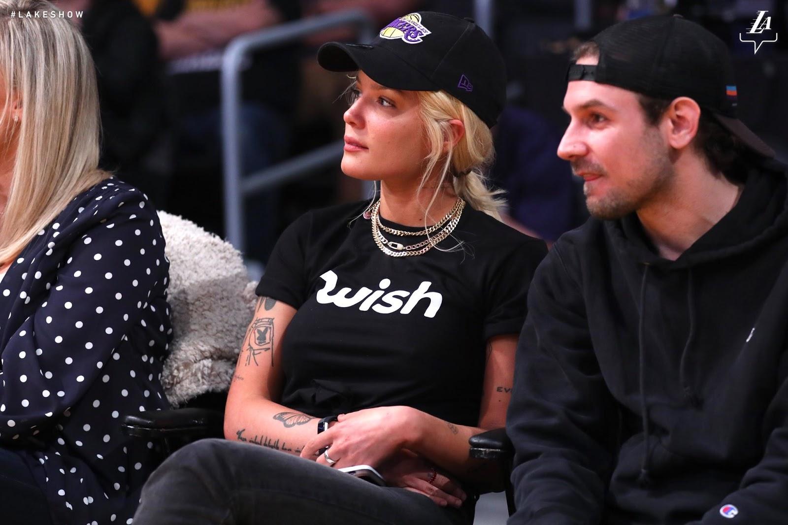 Wish Tee Shirt gear, Lakers game, Halsey