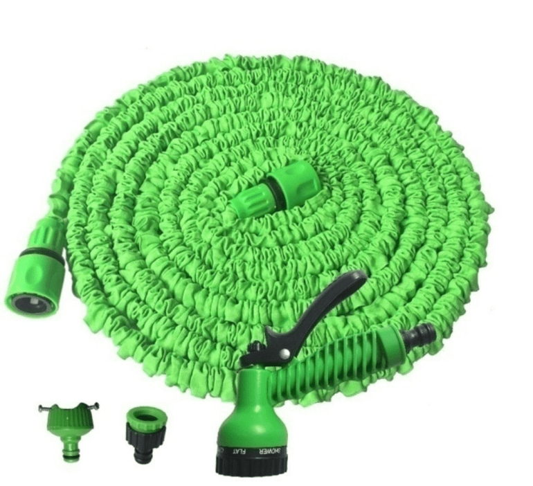 watering hose in circle coil