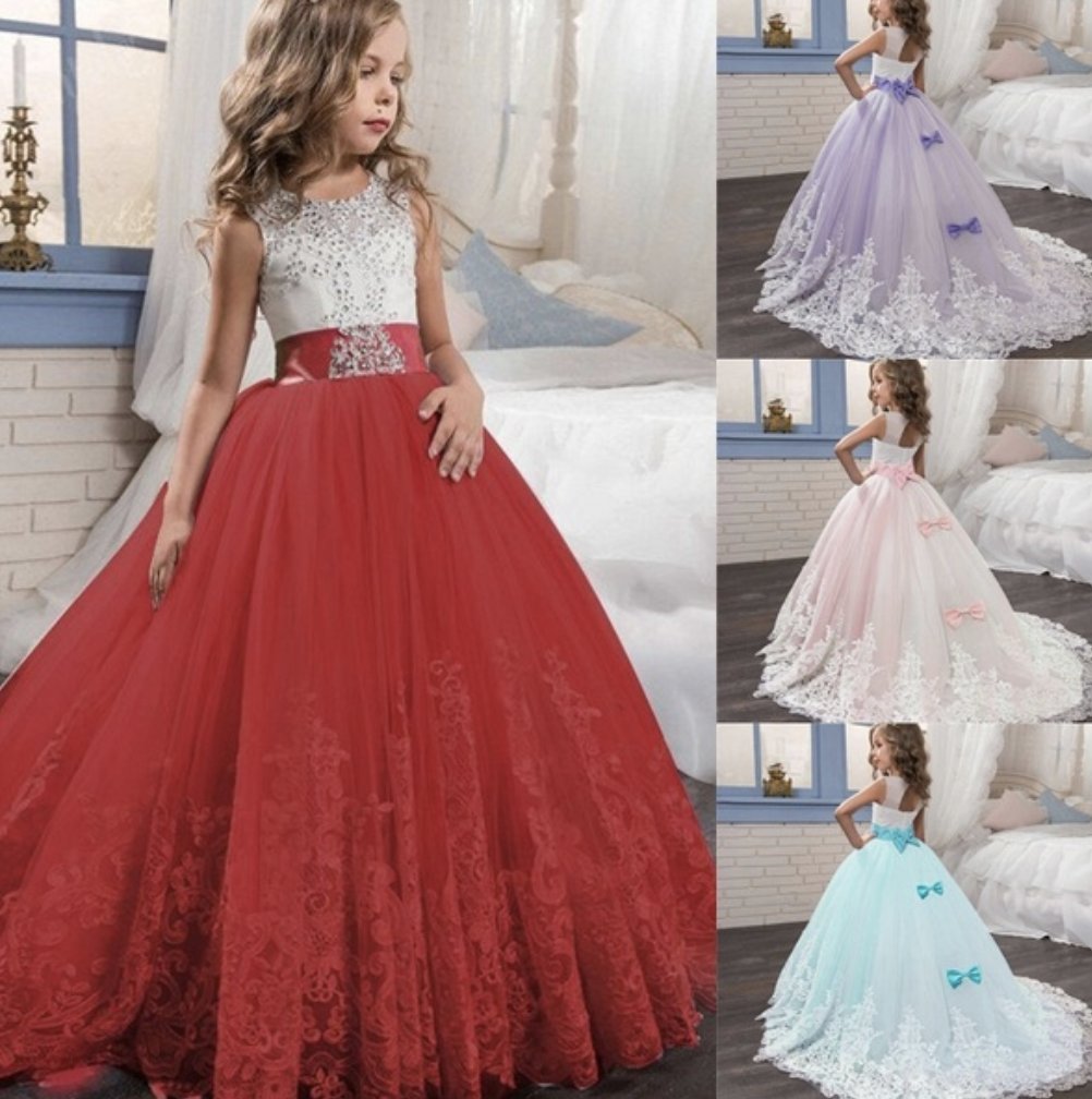 wedding, dress, flower girl, kids dress
