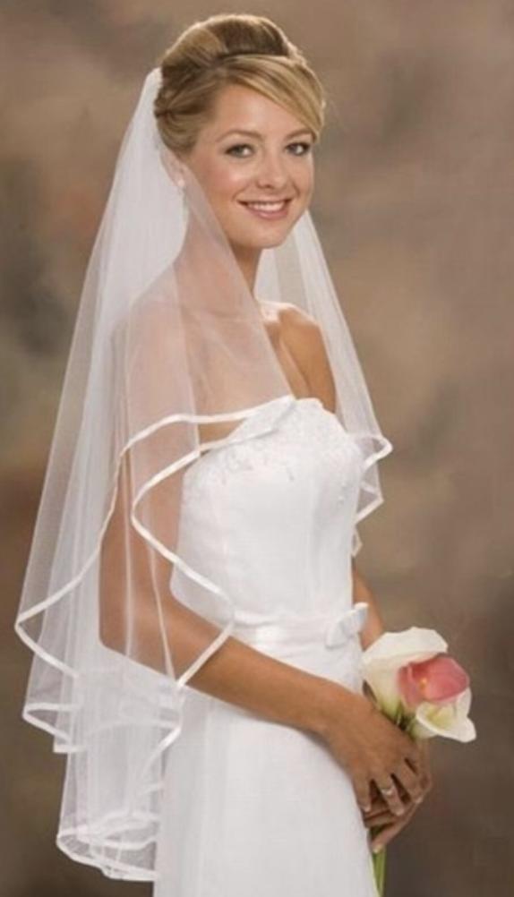 wedding, dress, veil