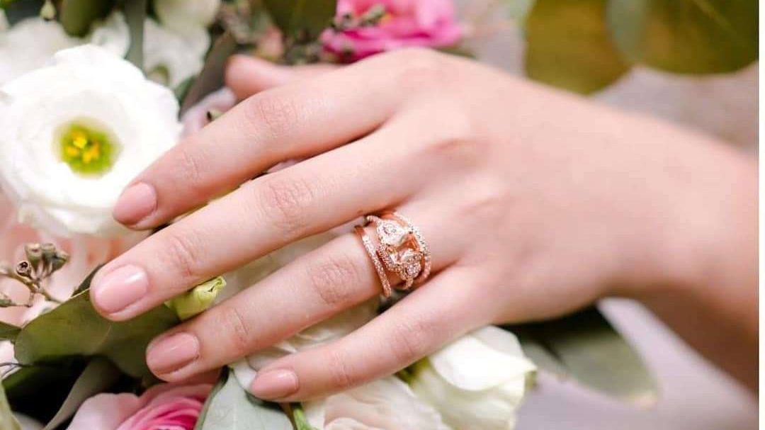 Wedding ring on a hand