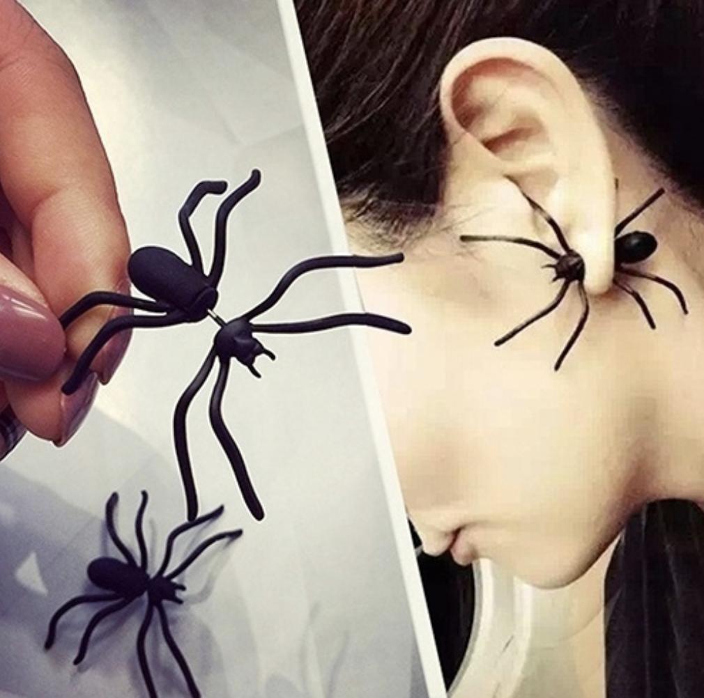 yearbook, bug earrings