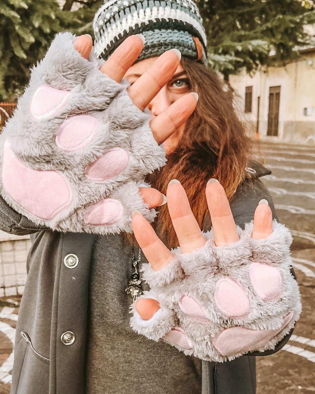 paw gloves, winter