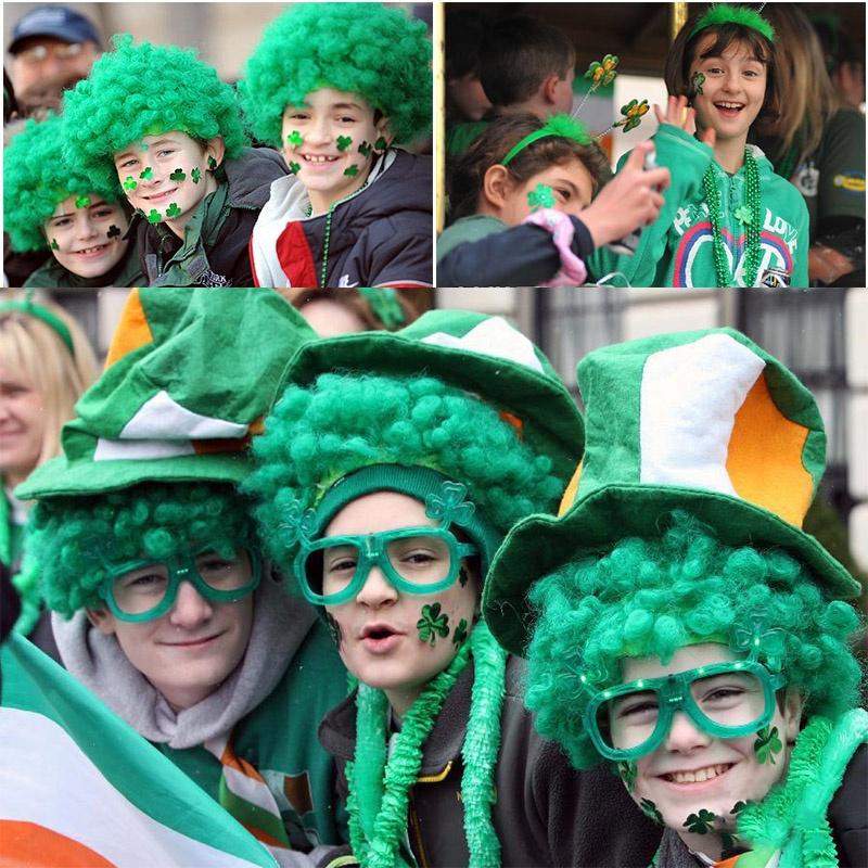 people celebrating St. Patricks Day