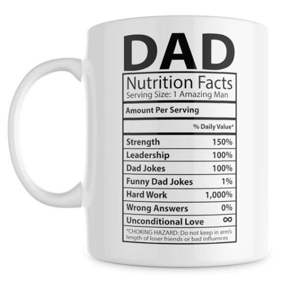 Dad nutrition funny mug