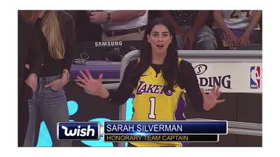 Sarah Silverman in Wish Lakers jersey