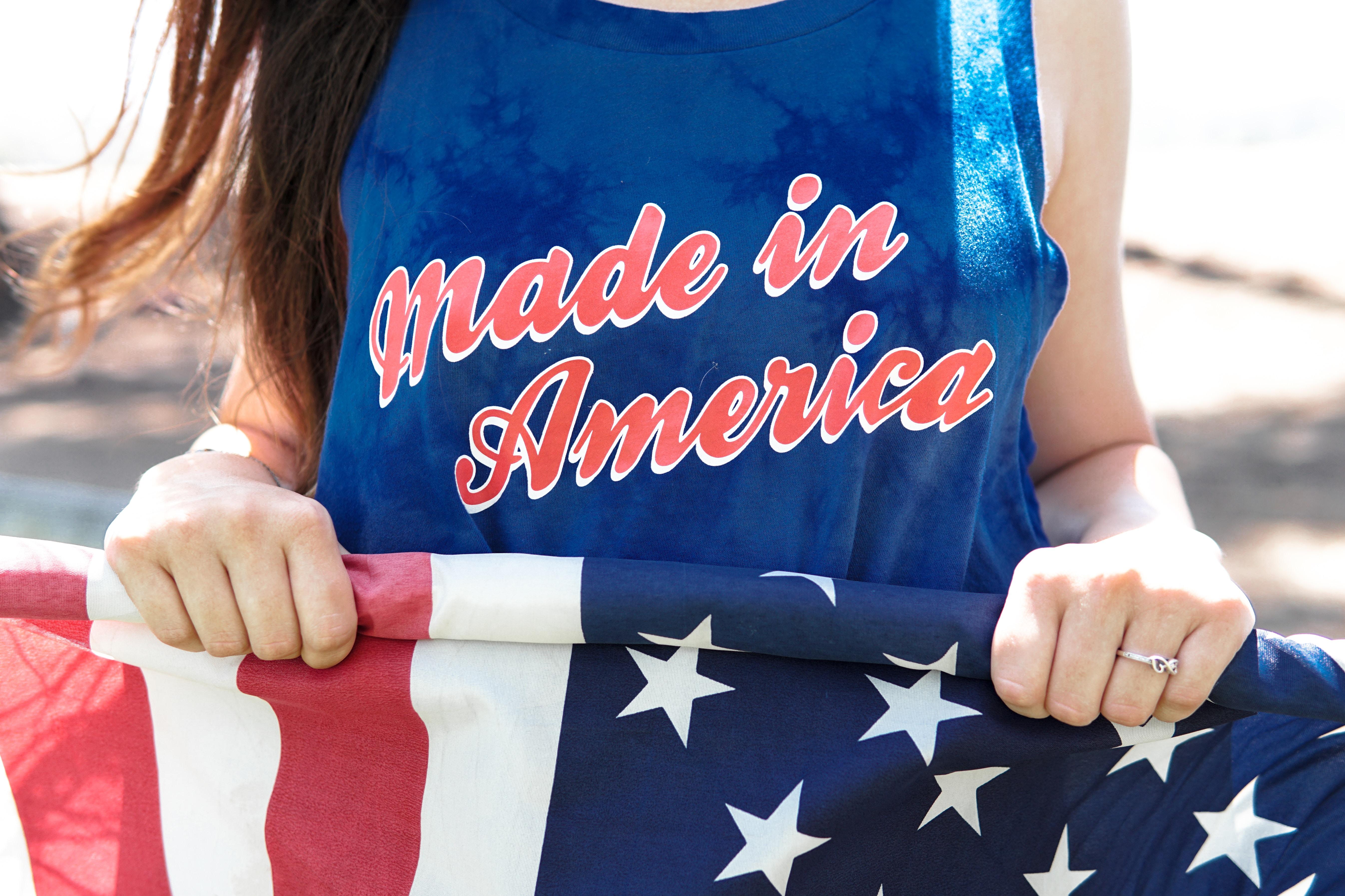 USA flag and tee shirt