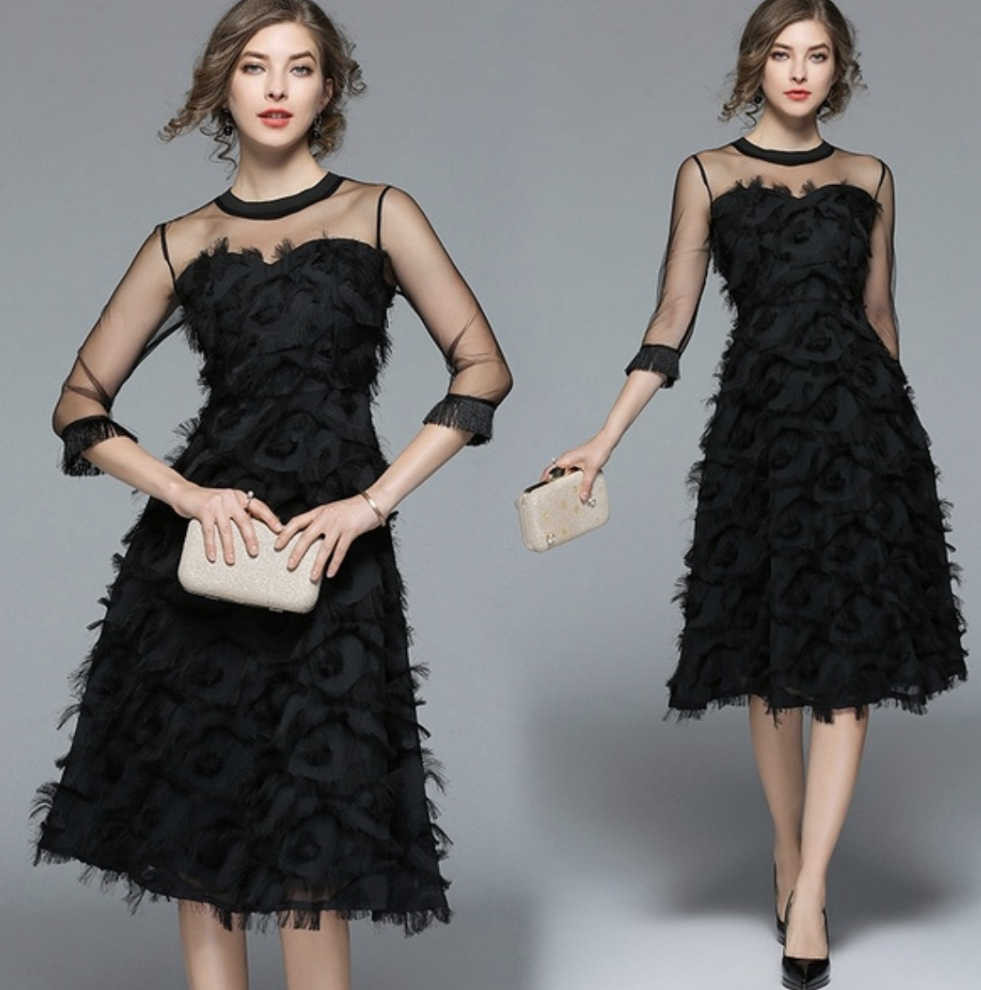 French A-line dress