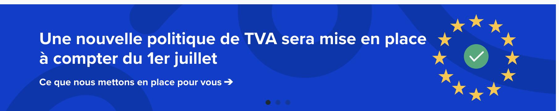 Graphique sur les changements de TVA